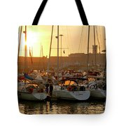 Docked Yachts Tote Bag by Carlos Caetano
