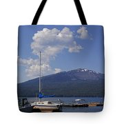 Docks At Diamond Lake Tote Bag