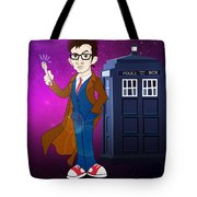 Doctor Who And Tardis Tote Bag