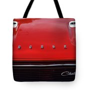 Dodge Challenger Hood And Grill Tote Bag
