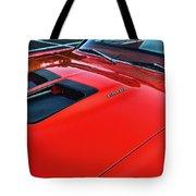 Dodge Super Bee Hood  In Red Tote Bag