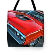Dodge Super Bee In Red Tote Bag