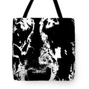 Dog Abstract Black And White Tote Bag