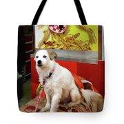 Dog At Carnival Tote Bag