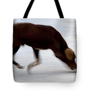 Dog In Motion Tote Bag