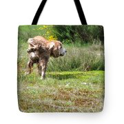 Dog Making A Pee Tote Bag