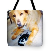 Dog Named Forest And Kitten Named Princess Tote Bag