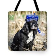 Dog With Diving Mask Tote Bag