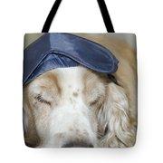 Dog With Sleep Mask Tote Bag