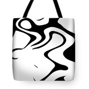Doggy Style Black On White Tote Bag