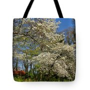 Dogwood Grove Tote Bag by Debra and Dave Vanderlaan