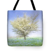 Dogwood In The Mist Tote Bag