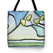 Dogwood Stained Glass I Tote Bag