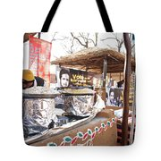 Doing Vendor Duty At Food Stalls In The Surajkand Mela Tote Bag