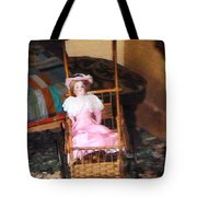 Doll In Carriage Tote Bag
