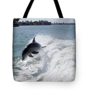 Dolphin Playing Tote Bag