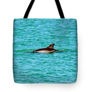 Dolphin Swimming Tote Bag