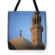 Dome And Minaret Of Mosque Of Barquq Tote Bag