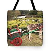 Donkey And Tea Gardens Tote Bag