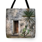 Door In Spanish Mission Building Tote Bag
