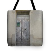 Door With Green Mailbox Tote Bag