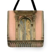 Doors Balcony And Duomo Reflection In Milan Italy Tote Bag