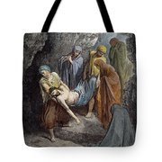 Burial Of Jesus Tote Bag