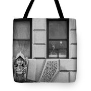 Dos Windows In Black And White Tote Bag