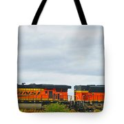 Double Bnsf Engines Tote Bag
