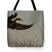 Double Crested Cormorant Coming Tote Bag