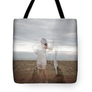 Double Image Ghost Tote Bag