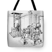 Double Oscillating Steam Engine Tote Bag