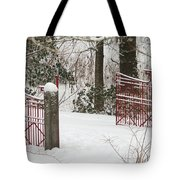 Double Red Iron Gates Tote Bag