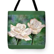 Double Roses Tote Bag