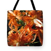 Double Tiger Lily Named Flora Pleno Tote Bag