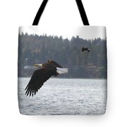 Double Trouble Eagles Tote Bag