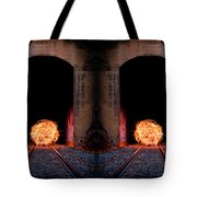 Double Tunnel On Fire Tote Bag