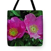 Double Wild Rose Tote Bag