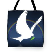 Dove Holding An Olive Branch With Tote Bag