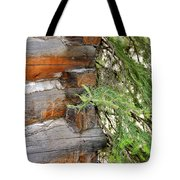 Dovetail Log Construction Tote Bag