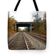 Down The Lines Tote Bag