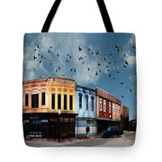 Downtown Bryan Texas 360 Panorama Tote Bag by Nikki Marie Smith