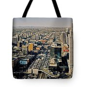 Downtown Calgary With The Canadian Rockies ... Tote Bag