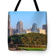 Downtown Philadelphia Skyline Tote Bag