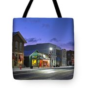 Downtown Waterville At Christmastime Tote Bag