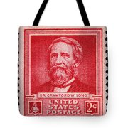Dr Crawford W Long Postage Stamp Tote Bag