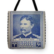 Dr Walter Reed Postage Stamp Tote Bag