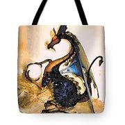 Dragon At Work Tote Bag