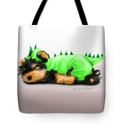 Dragon Baby Yorkie Tote Bag