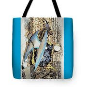 Dragon Reflexions And Repetition Tote Bag